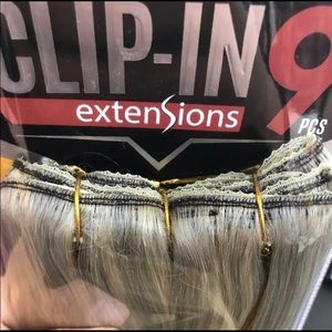 Accessories - Ash Blonde Clipin 18 Inch 100% Hair Extensions